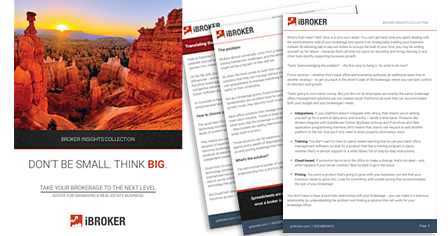 iBroker Insights eBook - Advice for Managing a Real Estate Business
